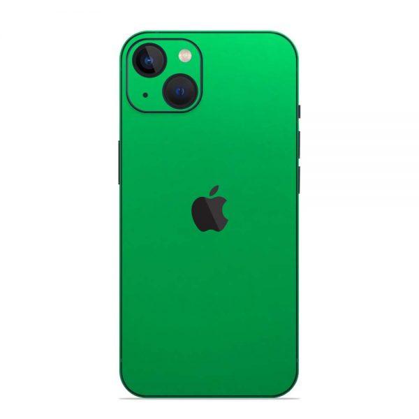 Skin Crom Verde Mat iPhone 13 / 13 Mini