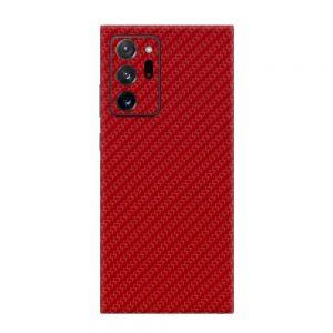 Skin Fibră de Carbon Roșu Samsung Galaxy Note 20 Ultra