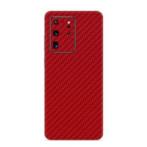 Skin Fibră de Carbon Roșu Samsung Galaxy S20 Ultra